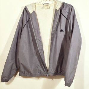 ADIDAS Athletic Hoodie Windbreaker Jacket XL
